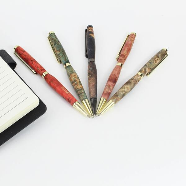 Шариковые ручки из стабилизированной древесины